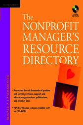 The Nonprofit Manager's Resource Directory by Ronald A. Landskroner