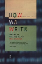 How We Write by Mike Sharples