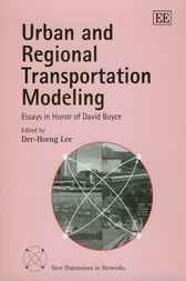 Urban and Regional Transportation Modeling by D.-H. Lee