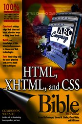 HTML, XHTML, and CSS Bible by Bryan Pfaffenberger