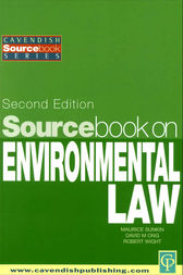 Sourcebook on Environmental Law by Maurice Sunkin