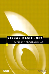 Visual Basic.NET Database Programming by Rod Stephens