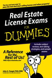 Real Estate License Exams For Dummies by John A. Yoegel