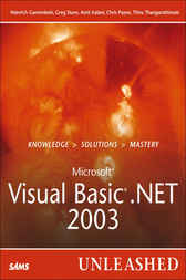 Microsoft Visual Basic .NET 2003 Unleashed by Heinrich Gantenbein