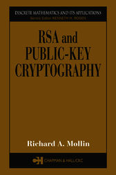 RSA and Public-Key Cryptography by Richard A. Mollin