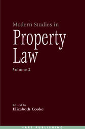 Modern Studies in Property Law - Volume 2 by Elizabeth Cooke
