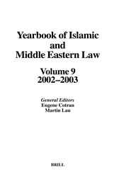 Yearbook of Islamic and Middle Eastern Law, Volume 9 (2002-2003)