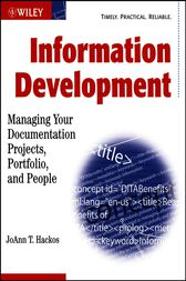 Information Development by JoAnn T. Hackos