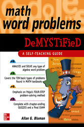 Math Word Problems Demystified by Allan Bluman
