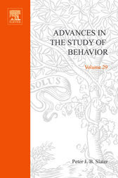 Advances in the Study of Behavior by Peter J.B. Slater
