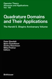 Quadrature Domains and Their Applications