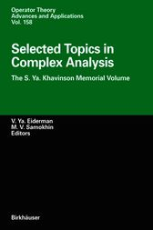 Selected Topics in Complex Analysis by Vladimir Ya. Eiderman