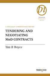 Tendering and Negotiating MoD Contracts