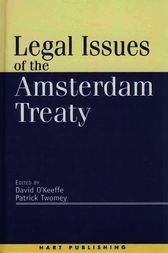 Legal Issues of the Amsterdam Treaty