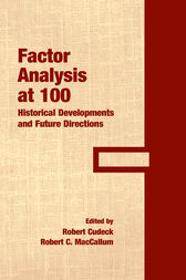 Factor Analysis at 100 by Robert Cudeck