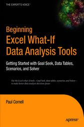 Beginning Excel What-If Data Analysis Tools by Paul Cornell