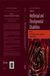 Handbook of Intellectual and Developmental Disabilities by John W. Jacobson