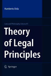 Theory of Legal Principles by Humberto Avila