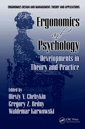 Ergonomics and Psychology by Olexiy Ya Chebykin