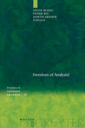 Freedom of Analysis? by Sylvia Blaho
