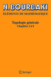 Topologie gnrale: Chapitres 1-4 (French Edition)