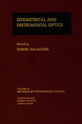 Geometrical and Instrumental Optics by Daniel Malacara