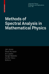 Methods of Spectral Analysis in Mathematical Physics by Jan Janas