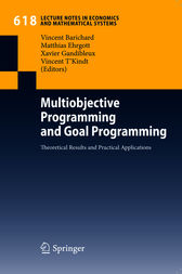 Multiobjective Programming and Goal Programming by H. P. Künzi