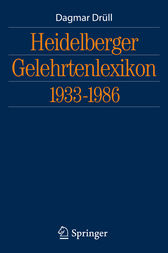 Heidelberger Gelehrtenlexikon 1933-1986 (German Edition)