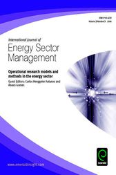 Operational Research Models and Methods in the Energy Sector by Carlos Henggeler Antunes