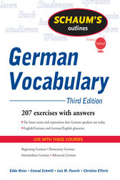 Schaum's Outline of German Vocabulary, 3ed by Edda Weiss
