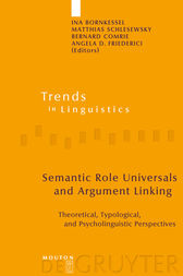 Semantic Role Universals and Argument Linking by Ina Bornkessel