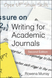 Writing for Academic Journals by Rowena Murray