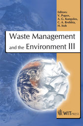 Waste Management and the Environment III by V. Popov