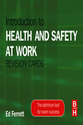 Introduction to Health and Safety at Work Revision Cards by Ed Dr Ferrett