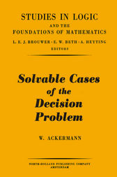Solvable cases of the decision problem by W. Ackermann