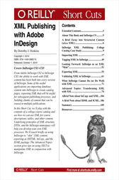 XML Publishing with Adobe InDesign by Dorothy J. Hoskins