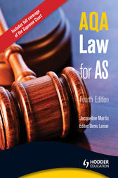 AQA Law for AS by Jacqueline Martin