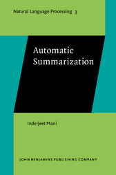 Automatic Summarization by Inderjeet Mani