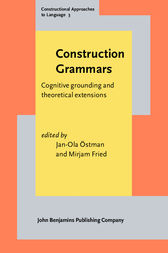 Construction Grammars by Jan-Ola Östman