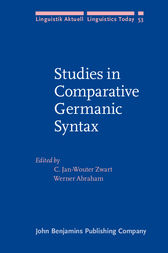 Studies in Comparative Germanic Syntax by C. Jan-Wouter Zwart