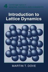 Introduction to Lattice Dynamics by Martin T. Dove
