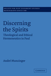 Discerning the Spirits by André Munzinger