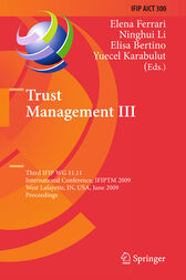 Trust Management III by Elena Ferrari