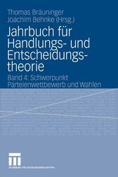 Jahrbuch f&#252;r Handlungs- und Entscheidungstheorie