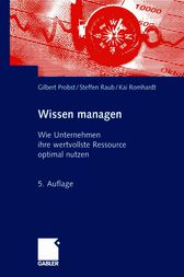 Wissen managen by Gilbert Probst