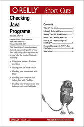 Checking Java Programs