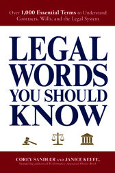 Legal Words You Should Know by Corey Sandler