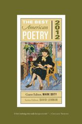 The Best American Poetry 2012 by David Lehman