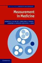 Measurement in Medicine by Henrica C. W. de Vet